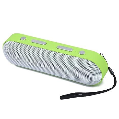 Altavoz Bluetooth con mejor bajo Altavoz portátil excelente con 10 metros Gama de Bluetooth, Bajo