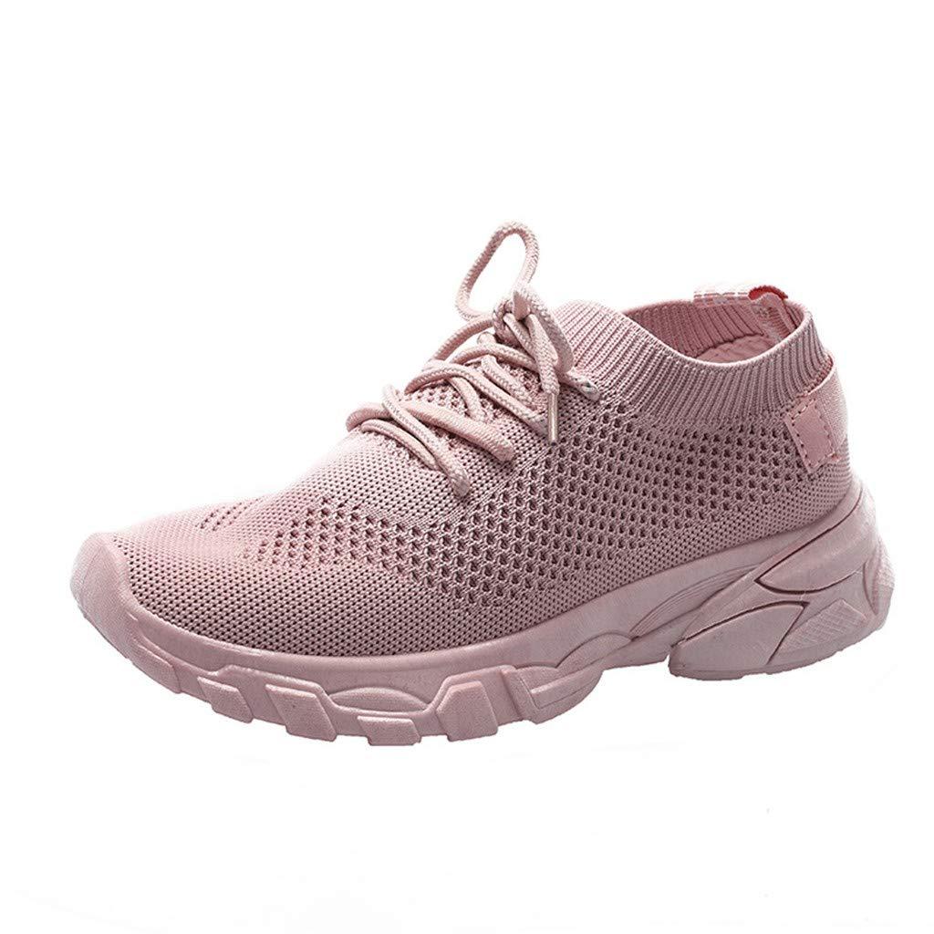 Mosstars❤Mode Femmes Mesh Woven Running Athletic Chaussures de sport respirantes d/écontract/ées /à lacets