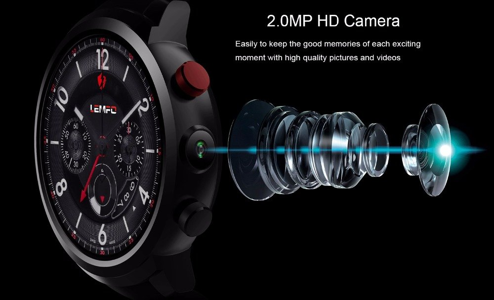 Amazon.com: LEMFO LEF2 Android Smart Watches for Men - 512MB + 8GB Watches Android 5.1 OS GPS WiFi Bluetooth for iOS Android Phone: Health & Personal Care