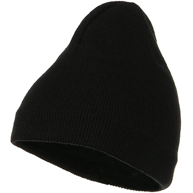 9b52c43ed Artex Fleece-Lined Plain Beanie - Black at Amazon Men's Clothing ...
