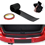 HIbuy Rear Bumper Protector Stickers, Universal Black Rubber Door Sill Guard Prevent Scratches While Unloading and Loading Fits Most Cars (35.4 inch)
