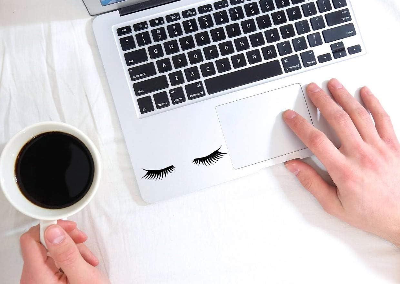 "Tamengi Sleepy Eyelashes Decal, Sleepy Eyelashes Sticker for Laptop, car, Notebook, Tablet 4"""