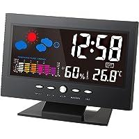 ° C / ° F Multifuncional interior colorido LCD Temperatura Digital medidor de umidade Estação Meteorológica Relógio…
