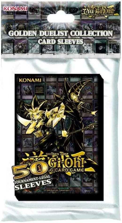 Yu-Gi-Oh Sleeves Deck Box /& Hüllen Card Case Golden Duelist Collection