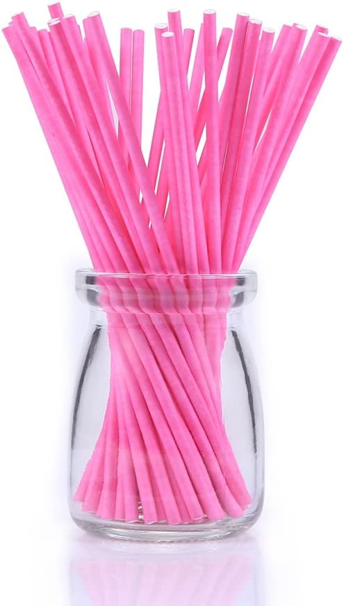 Amazon.com: Lollipop Sticks de colores, 100 unidades de 5.9 ...
