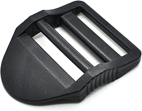 25mm Black Plastic Ladderlock Rucksack Type slide Buckles for 1 inch Webbing