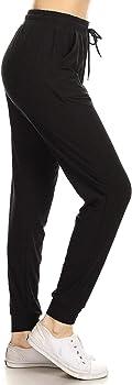 Leggings Depot Women's Printed Solid Activewear Jogger
