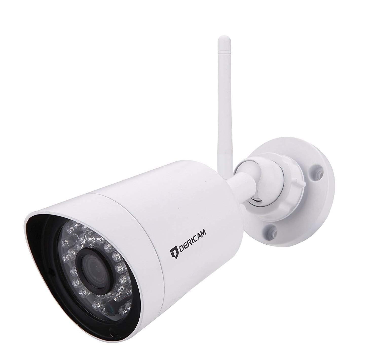 Cá mara de Seguridad para Exterior Dericam Full HD 1080P@25fps con Cristal de 3MP HD Lens, Ranura para Tarjeta de Memoria Externa Disponible, B2A, Blanco
