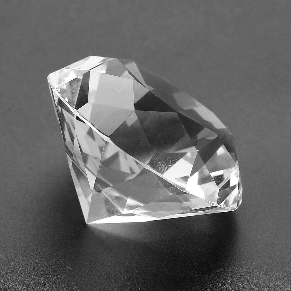 5pcs50mm-Transparent 6mm ~ 50mm Diamants de verre acrylique clair Diamants de verre pierres pr/écieuses pierres de cristal pour centre de table d/écoration de douche nuptiale mariage