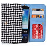 "Kroo Black Houndstooth Samsung Galaxy J7 Prime, A7 (2017) A9 Pro (2016), A8+, Galaxy S7 Plus 6.0"", S6 edge+ Plus, Galaxy Note 8, Note 3 4 5 Phone Phablet Cases 