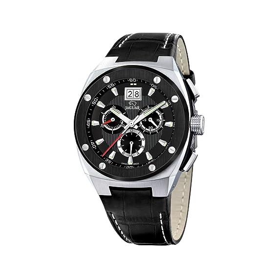 Jaguar 620/3 - Reloj de caballero de cuarzo, correa de piel color negro