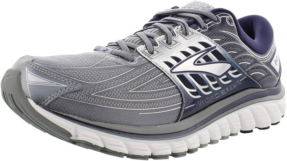 Brooks para Hombre glicerina 14 – Zapatillas de Running de línea de Meta, Primer Gray/Peacoat Navy/: Amazon.es: Deportes y aire libre