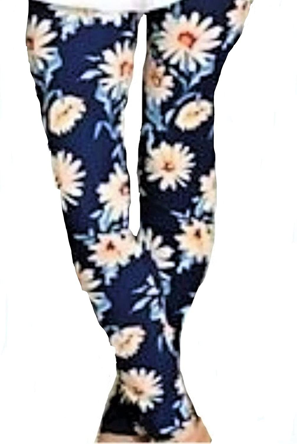 002507d13450 Infinity Raine Clothing Floral Daisy Leggings Super Soft Womens One Size  2-12 Comfortably: Amazon.in: Clothing & Accessories