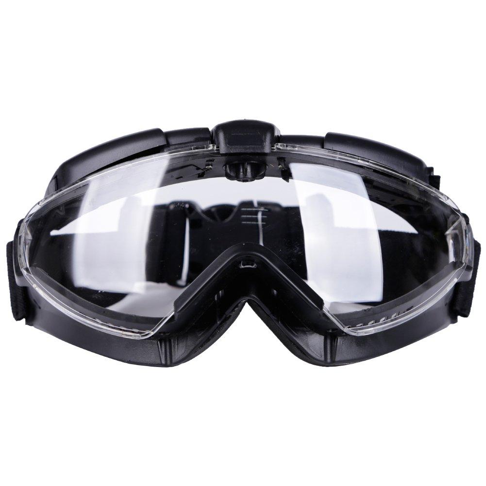 Aoutacc Gafas tácticas Airsoft con Ventilador y Lente Transparente antivaho 100% Anti-UV para Motociclismo al Aire Libre, Airsoft, Paintball, Caza, Pistola BB, Color Negro, tamaño Talla única