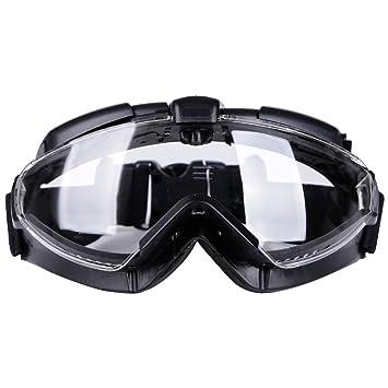 b2e5329749 Aoutacc Gafas tácticas Airsoft con Ventilador y Lente Transparente antivaho  100% Anti-UV para