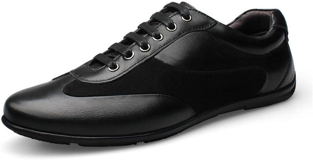 Hommes Respirant Loisir Chaussures en cuir Chaussures d/écontract/ées Lumi/ère Confortable Chaussures plates Grande taille EUR TAILLE 38-48