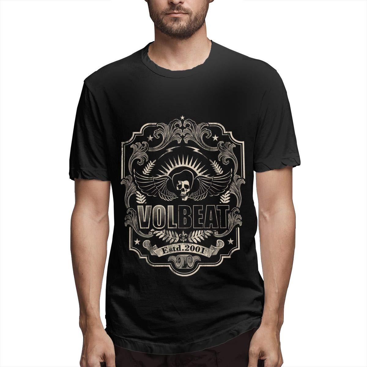 Lihehen Mans Volbeat Logo Simple Casual Round Neck Tees Shirts