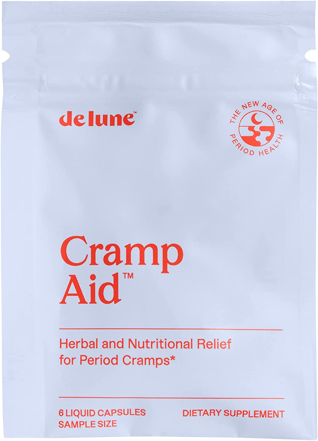De Lune, Cramp Aid, Natural Relief for Period Cramps, Sample Size