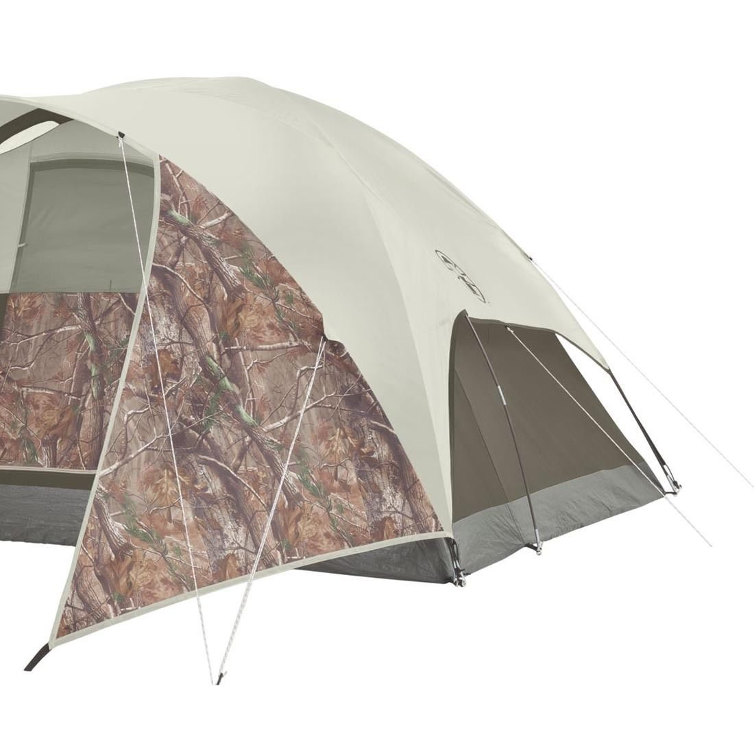 Evanston Realtree Xtra 4-Person Tent with Window Awnings With Ebook