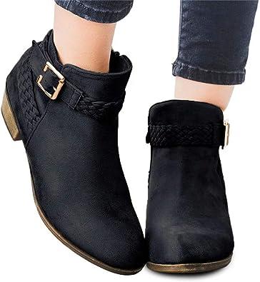 bottine noir femme cuir talon 4cm