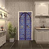 LWCX Retro Door Creative Door Sticker Self Sticker For Bedroom Sticker Can Be Customized