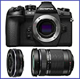 Olympus OM-D E-M1 Mark II Mirrorless Micro Four Thirds Digital Camera (V207060BU000) + Olympus M.Zuiko Digital ED 14-42mm f/3.5-5.6 EZ Lens & ED 40-150mm f/4.0-5.6 R Lens