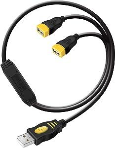 USB Splitters - wishacc 2-Port USB Hub 1 Male to 2 Female USB y Splitter Cable