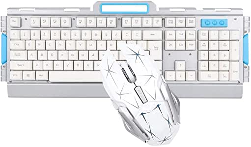 Wireless Keyboard and Mouse Combo,Compact Wireless Keyboard AND Ergonomic Full-Size Mouse,2.4GHz Ultra Thin Portable Small Wireless Keyboard and Mouse Combo Set for PC, Desktop, Computer, Notebook