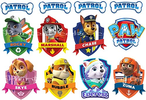 Edible Icing Paw Patrol Badges Dogs Sign Buy Online In Switzerland At Desertcart