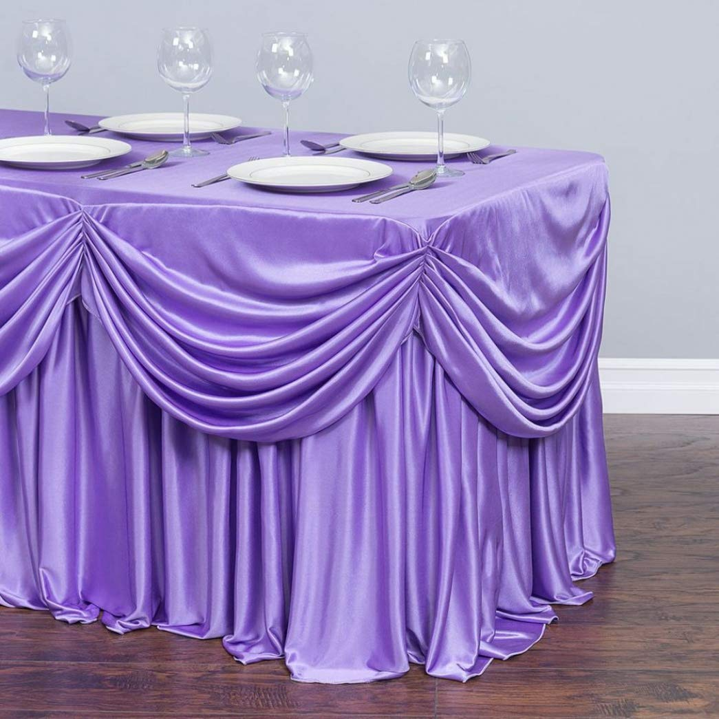 Table Cover Ice Silk for Wedding Decor Banquet Festival Party Elegant Table Skirt