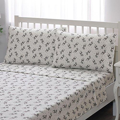 [Brielle 100-Percent Cotton Flannel Sheet Set, Twin, Snowman] (Snowman Flannel)