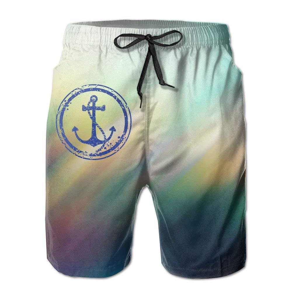 Ancla náutica Rueda de Barco Shorts de Playa elásticos de ...