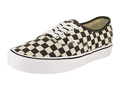7e18049ab60 Vans Mens Authentic LITE Checkerboard Black White Size 8