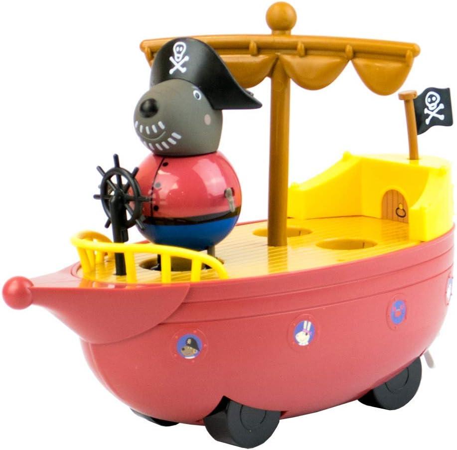 Character Optiions Peppa Pig Grandad Chien Pirate Boat Ship Ensemble de Jeu