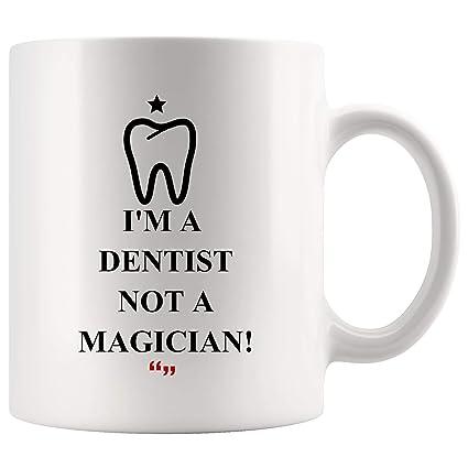 Amazon.com: Be Dentist Not Magician Physician Mug Coffee Cup Funny ... #blackCoffee