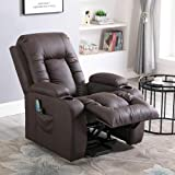 Relaxateeze Avanti Cream Leather Swivel Recliner Chair