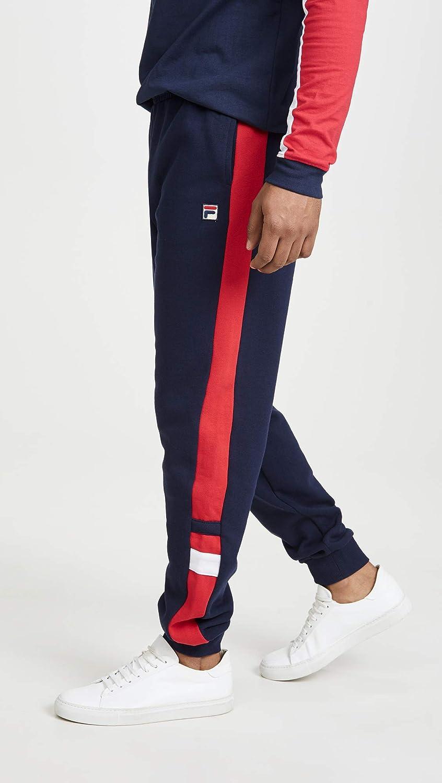 Fila Mens Romolo Sweatpants, Peacoat/Chinese Red/White, Large ...