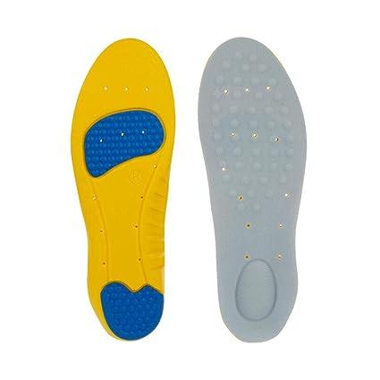 Plantillas Deportivas Transpirable para Hombre y Mujer Plantillas Gel Plantillas de Zapatos de Amortiguación, Cómodas, Antibacteriana y Flexibles, ...