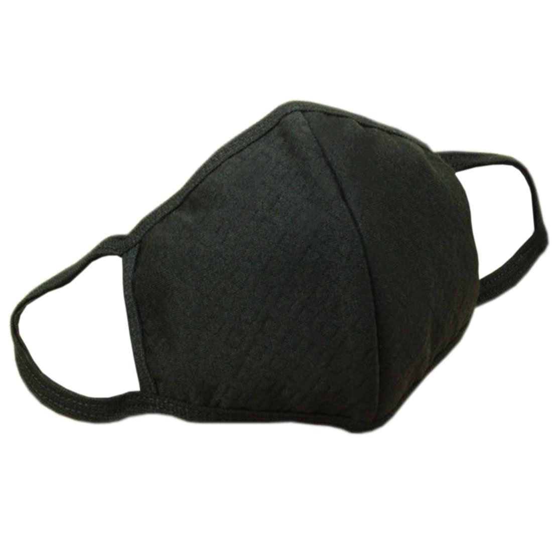 Marygel 5 Pcs Reusable Washable Activated Carbon Cotton Warm PM 2.5 Dust Masks Flu Masks(Black 5 Pcs)