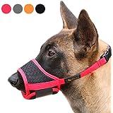 Heele Dog Muzzle Nylon Soft Muzzle Anti-Biting Barking Secure,Mesh Breathable Pets Mouth Cover for Small Medium Large…