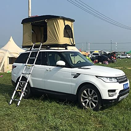 1-2 Person Canvas Fabric Car Roof Top Tent Boat Bottom Tent (Khaki : tent for cars - afamca.org