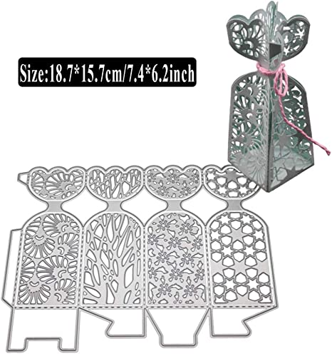 Handmade 3D Candy Box Cutting Dies Stencil DIY Scrapbooking Paper Card Embossing