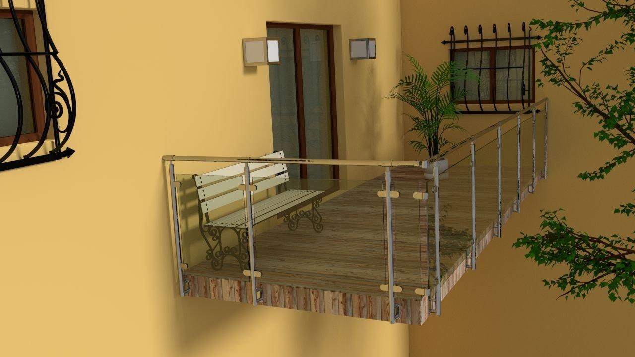 Wunderschonen balkon edelstahl haus design ideen for Garten planen mit französischer balkon bausatz