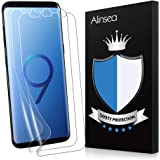 Alinsea Galaxy S9 Plus Screen Protector [2-Pack] [NOT for S9] [Bubble Free] [Case-Friendly] [Wet Applied] Plastic Film [NOT Glass] [No Lifting on Edge] [Touch sensitive] for Samsung Galaxy S9 Plus/+