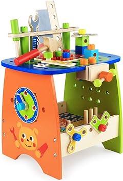 89PCS Caja de Herramientas de Bricolaje para niños, Caja de ...