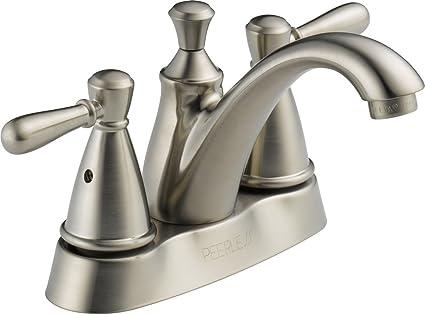 Peerless P99674LF-BN Apex Two Handle Centerset Bathroom Faucet ...