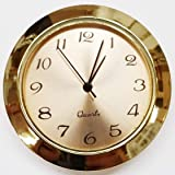 "1 7/16"" Economy Clock Insert - Gold and Gold Arabic"