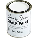 CHALK PAINT (R) by Annie Sloan - Pure White (Quart - 32oz) – Decorative paint for furniture, cabinets, floors, home decor and accessories – Water-based – Non-toxic – Matte finish