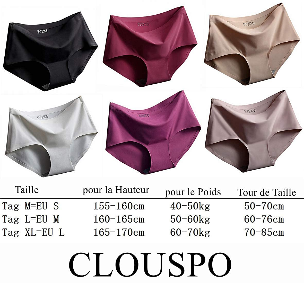 Leezepro Culotte Femme Invisible sous-v/êtements sans Couture Slips Shorties
