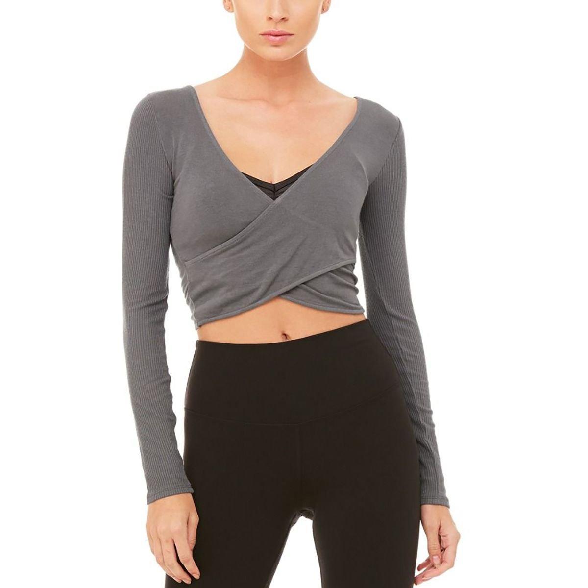 Alo Yoga Amelia - Camiseta de Manga Larga para Mujer, Large ...